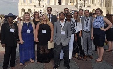 A team of citizens from Arkansas before lobbying on Capitol Hill